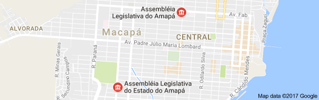 Mapa Assembleia legislativa do amapa
