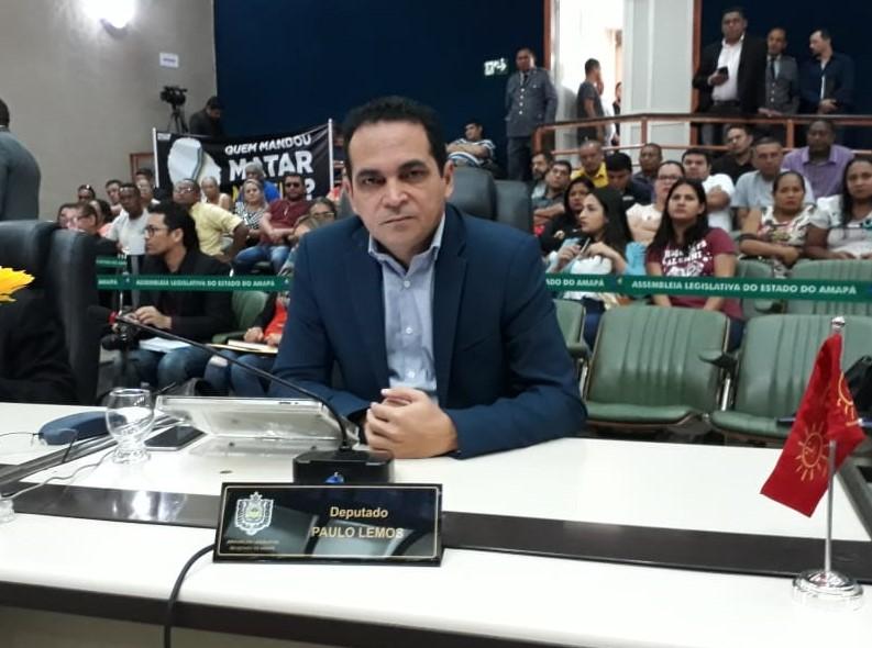 Deputado Paulo Lemos, presidente da Comissão Parlamentar do Concurso Público da Assembleia Legislativa do Amapá